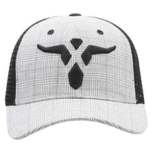 Load image into Gallery viewer, Wrangler Plaid and Long Horn Adjustable Snapback Hat