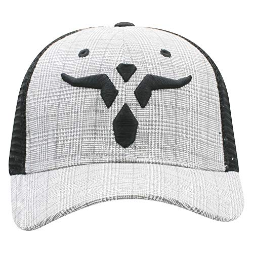 Wrangler Plaid and Long Horn Adjustable Snapback Hat