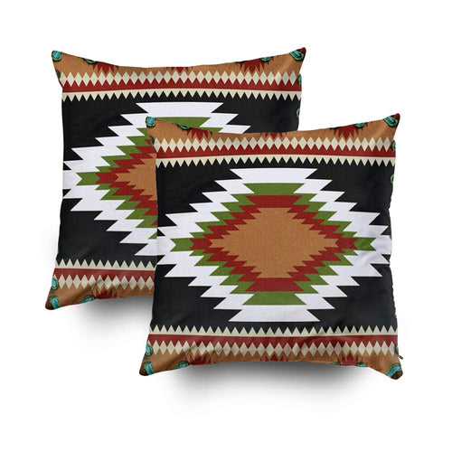 TOMWISH Hidden Zippered Pillowcase Christmas Western Southwest Hardeman Tribal Print 18X18Inch,Decorative Throw Custom Cotton Pillow Case Cushion Cover for Home Sofas,Bedrooms,Offices,and More