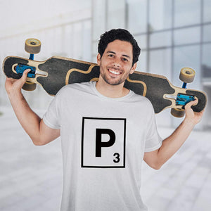 Custom Graphic T Shirts for Men P Scrabble Initial Monogram Letter P Cotton