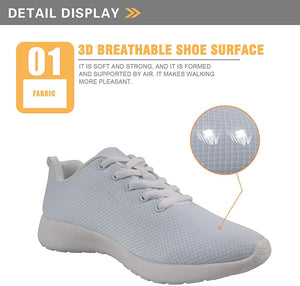Showudesigns Breathable Road Running Sport Shoes Women Girls Travel Walking Sneaker Anti-Skid