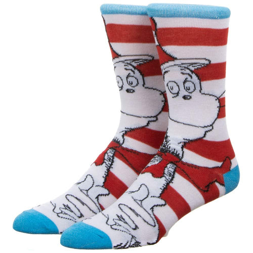 Dr. Seuss Cat in the Hat Crew Socks