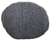Load image into Gallery viewer, Ted and Jack - Street Easy Herringbone Driving Cap with Quilted Lining