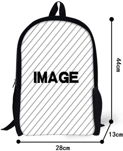 Coloranimal Custom Your Own Image/Picture Children Kids School Backpacks Big Capacity 16 Inch Bookbags