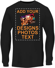 Load image into Gallery viewer, Custom Personalized Men's Long Sleeve Tee - Printed Image & Text - Your Design Here