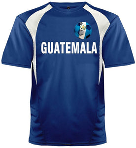 Custom Guatemala Soccer Ball 1 Jersey Personalized with Your Names and Numbers