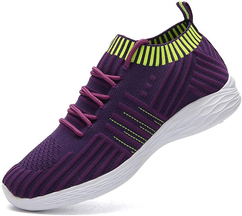AoSiFu Women's Walking Shoes Tennis Running Sneakers Mesh Slip On Sock Lightweight Breathable Easy Shoes