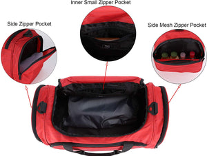 MIER 21 Inch Sports Gym Bag with Wet Pocket Travel Duffel Bag for Men and Women