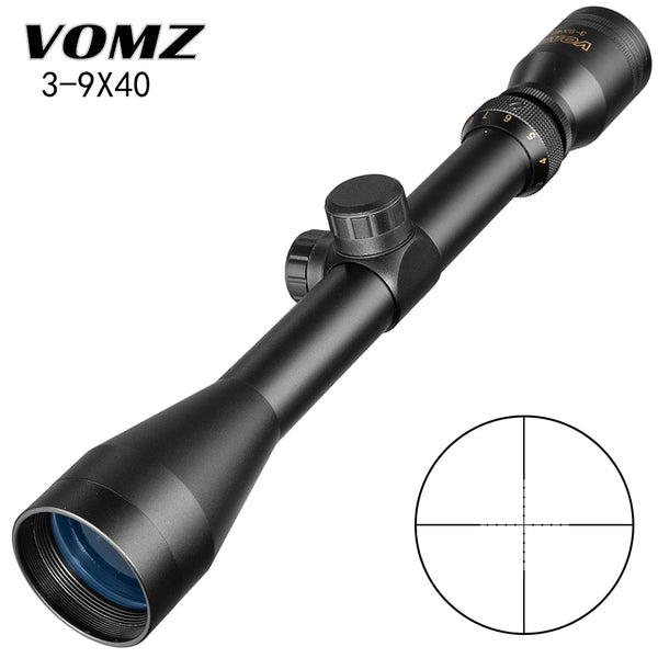 3-9X40 Rifle Scope W/ Mil Dot Reticle