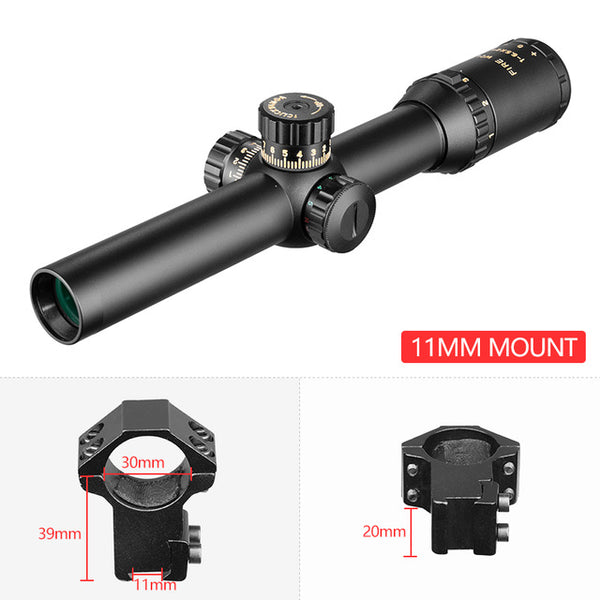 1-6.5X24 Compact Riflescope Illuminated Rifle Scope