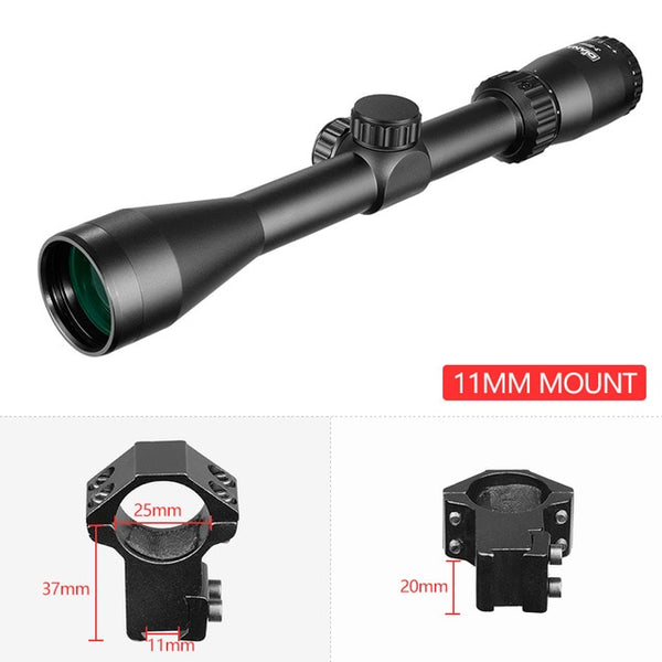 3-9X40 Rifle Scope Duplex Reticle Tactical Cross