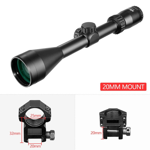 4-12x50HD Rifle Scope 1/4 MOA Rifle Scope