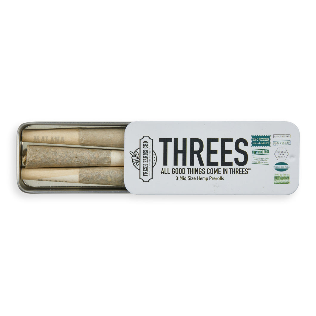 Three's Hemp Pre-Roll - The Farmacy