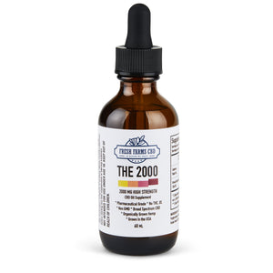Blue Tincture (NO THC Broad Spectrum Hemp Extract Oil) 250MG / 500MG / 1000MG / 2000MG - The Farmacy