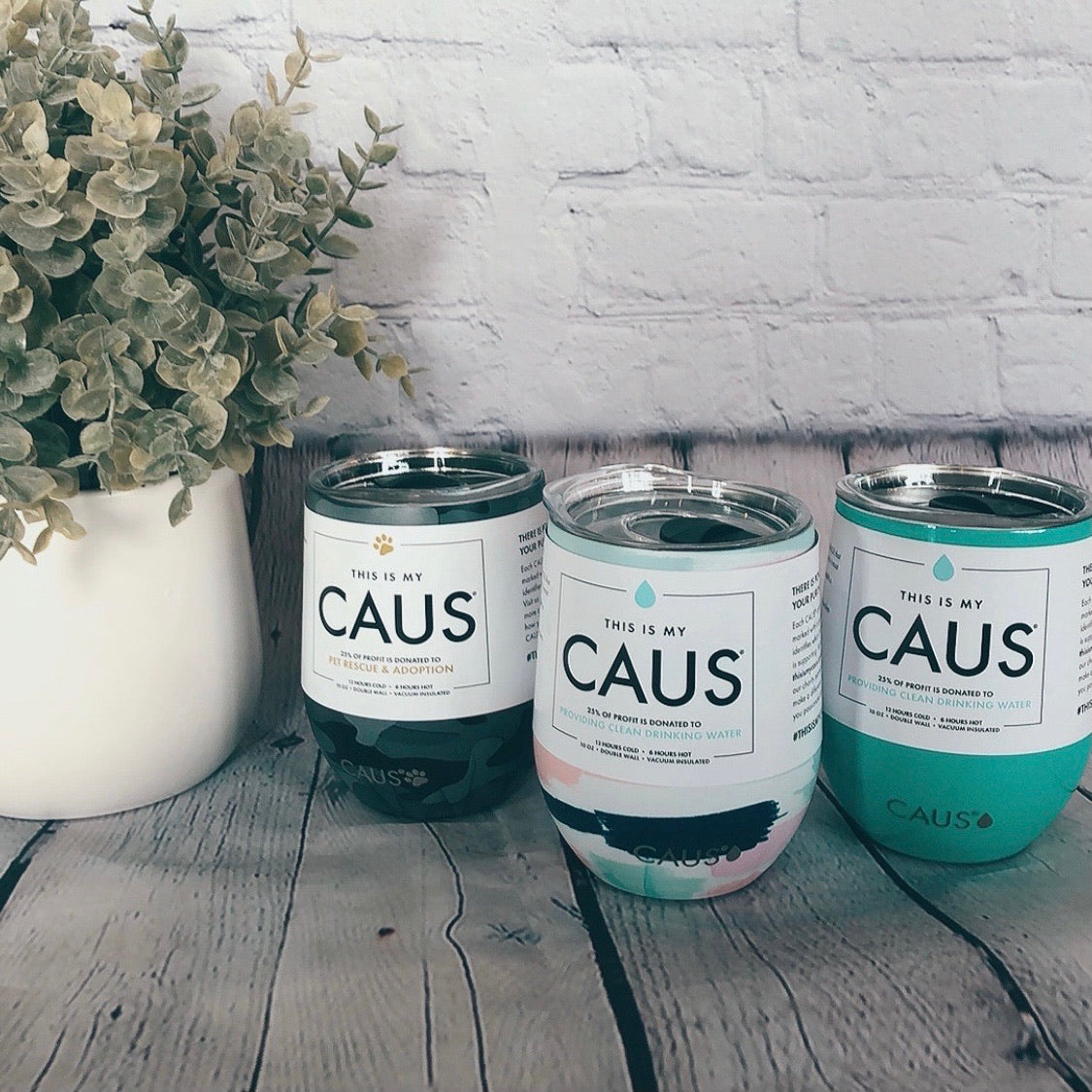 Caus Small Teal Drink Tumbler