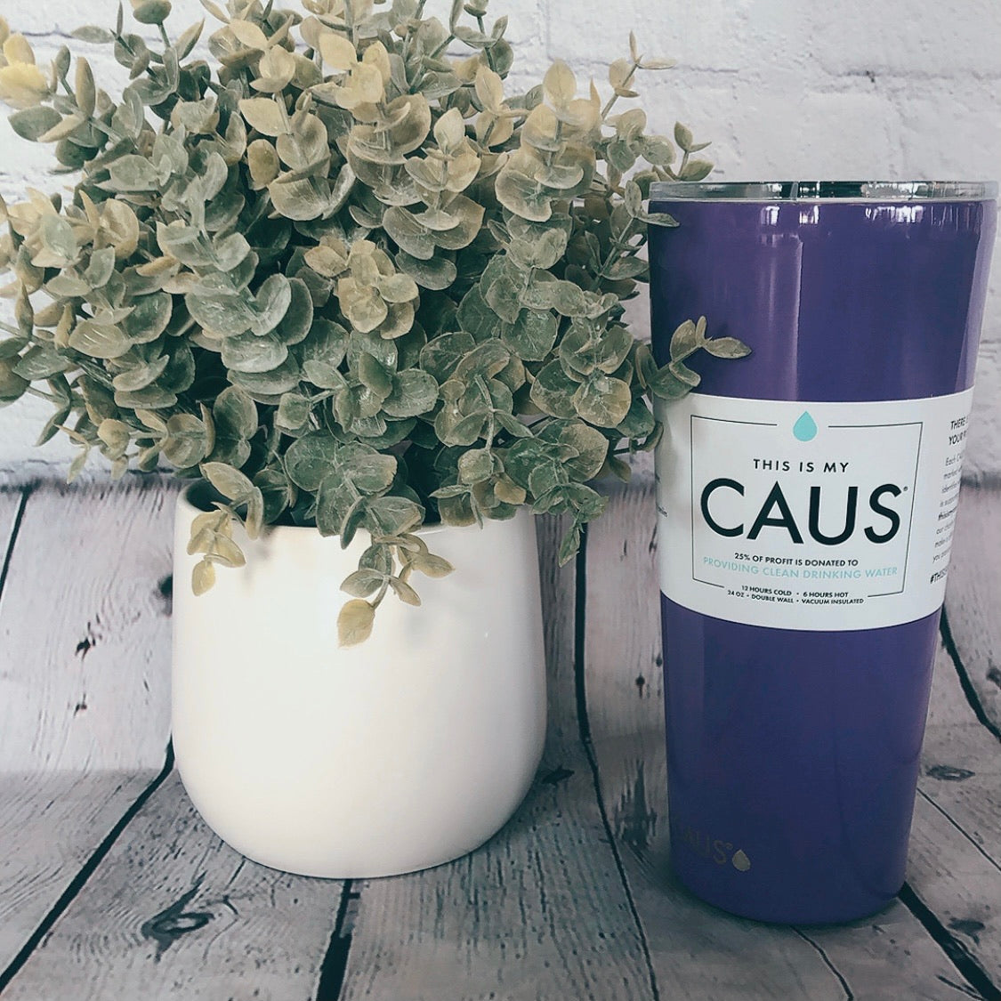 Caus Large Purple Water Tumbler