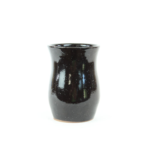 Speckled Black Vase