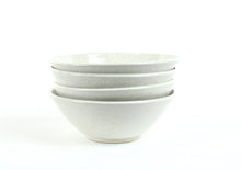 Load image into Gallery viewer, 4 Speckled White Bowls