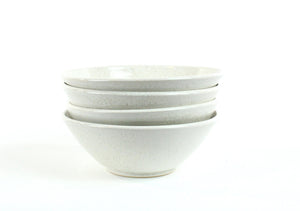 4 Speckled White Bowls