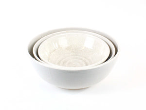 Ceramic Nesting Bowls in Multiple Colors