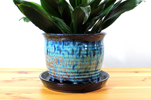 Multi Colored 8 inch Planter