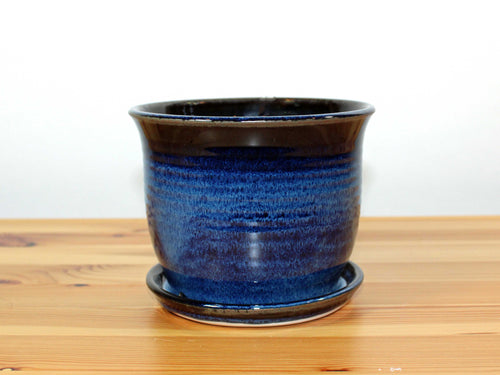 Blue and Black Planter