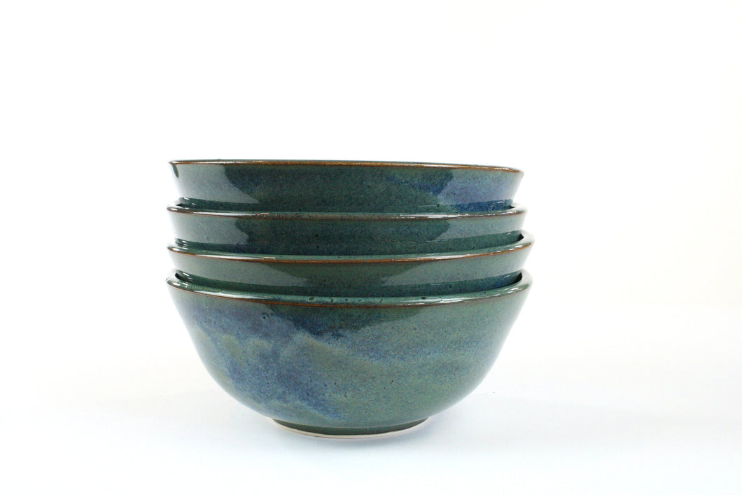 4 Floating Blue Bowls