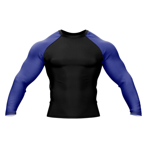 Black with Blue Sleeve Rank Rashguard