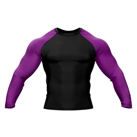 Black with Purple Sleeve Rank Rashguard