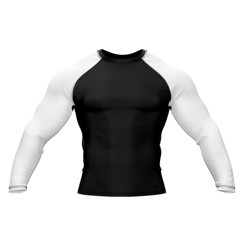 Black with White Sleeve Rank Rashguard