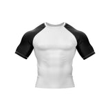 White with Black Sleeve Rank Rashguard