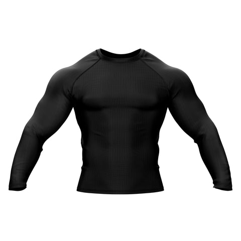 Black with Black Sleeve Rank Rashguard