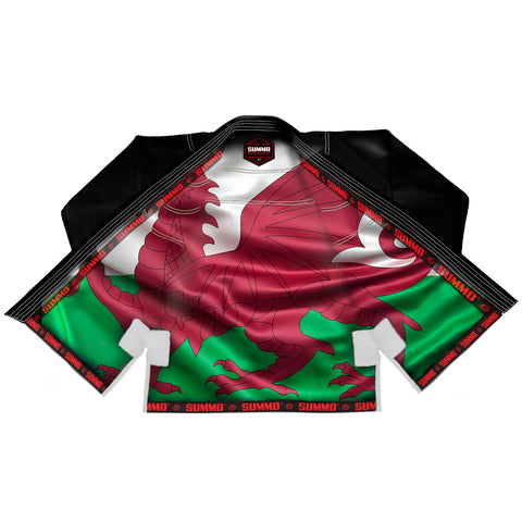 Wales Black Sublimation Brazilian Jiu Jitsu Gi ( BJJ GI )