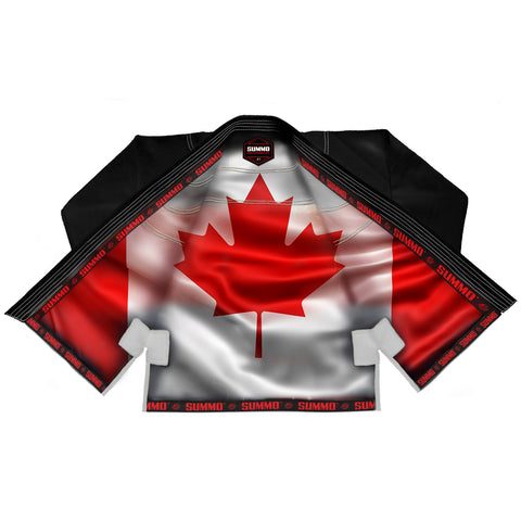 Canadian Black Sublimation Brazilian Jiu Jitsu Gi ( BJJ GI )