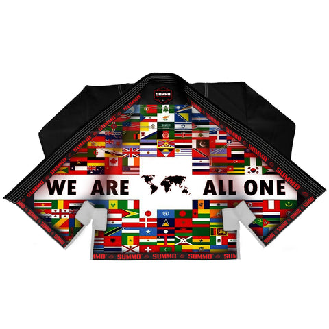 We Are All One Sublimation Brazilian Jiu Jitsu Gi,schwarz ( BJJ GI )