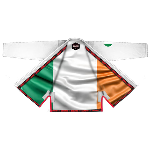 Irish White Sublimation Brazilian Jiu Jitsu Gi ( BJJ GI )