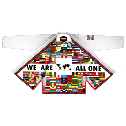 We Are All One Sublimation Brazilian Jiu Jitsu Gi,weiß ( BJJ GI )