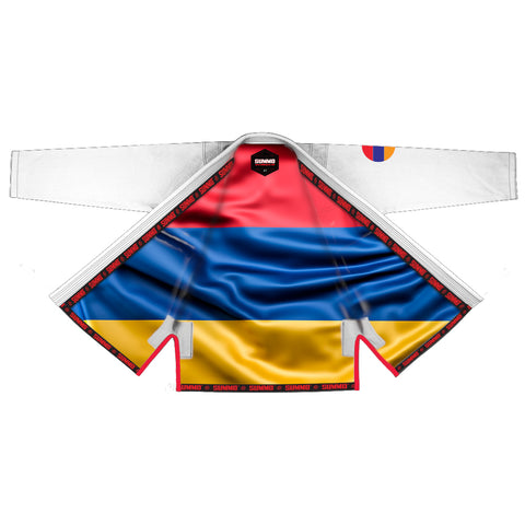 Armenia White Sublimation Braziliaanse Jiu Jitsu  Gi ( BJJ GI )