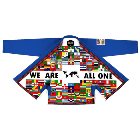 We Are All One Sublimation Brazilian Jiu Jitsu Gi,blau ( BJJ GI )