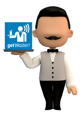 Promotional Waiter & logo