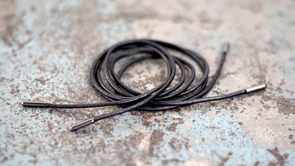 Black Cotton Shoe lace coiled up
