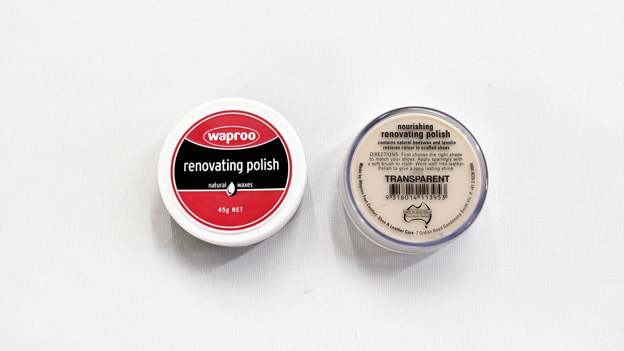 Natural Waproo Renovating Shoe polish