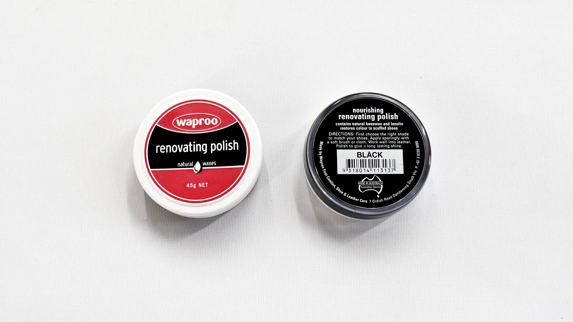 Black Waproo Renovating Shoe polish