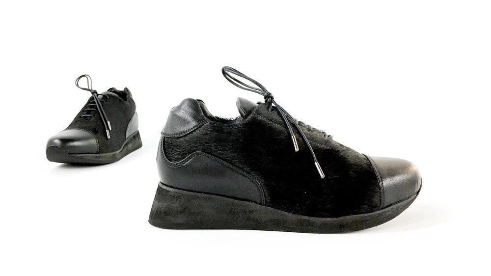 The Gertie Sneaker - Black Pony