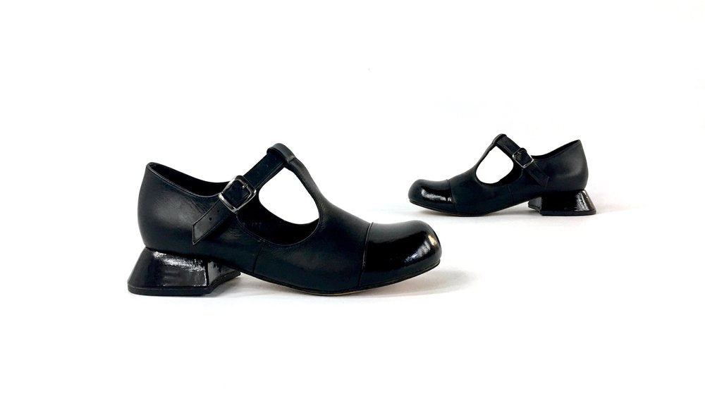 The Jackson Shoe - Black w. Patent