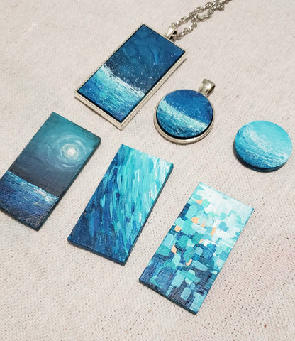 blue unique necklaces
