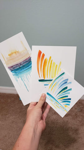 watercolor abstract paintings