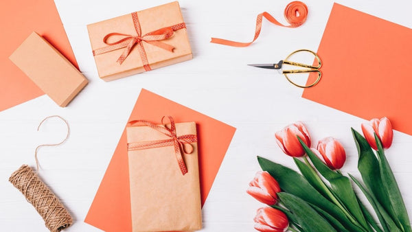 colorful gift wrap with flowers