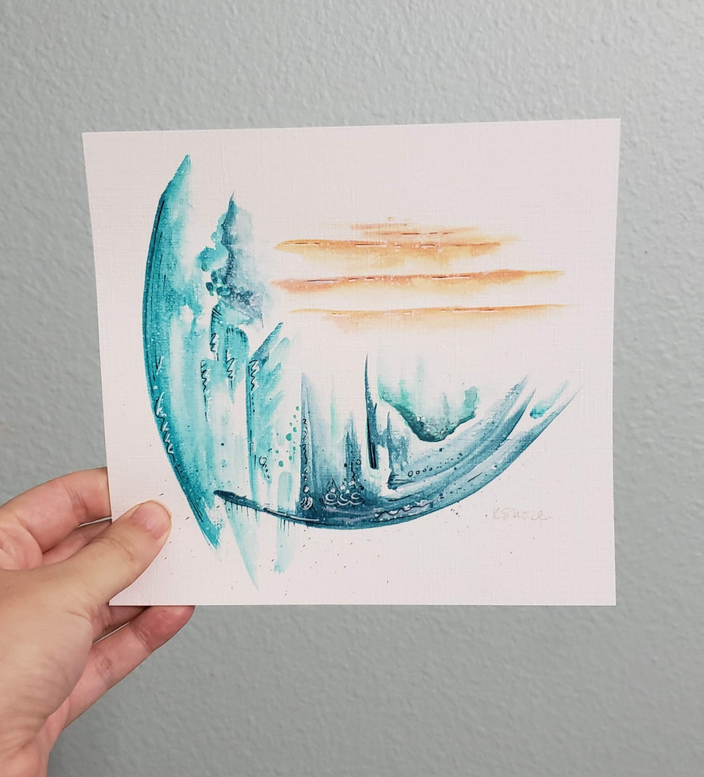 Original Abstract Painting on Paper | 100 Day Project - Day 1