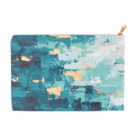 "Teal Zipper Pouch / Pencil Case - ""Worth the Climb"" Print"